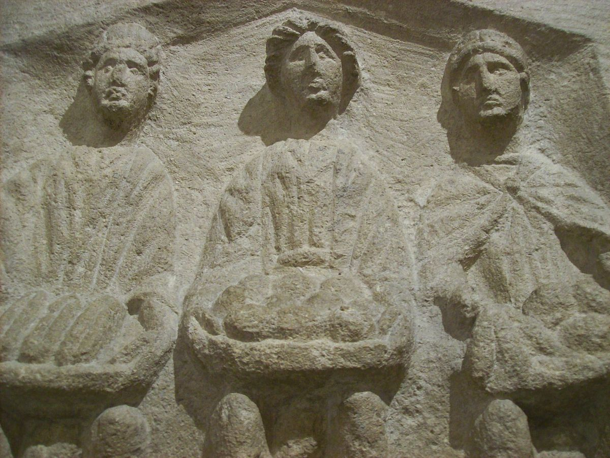 Three Goddesses, Roman high relief sculpture.jpg