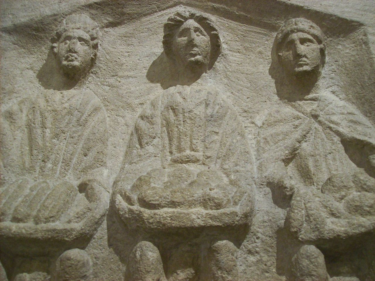 File three goddesses roman high relief sculpture g