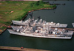 Three destroyers awaiting to be scrapped at Baltimore in 1994.jpeg