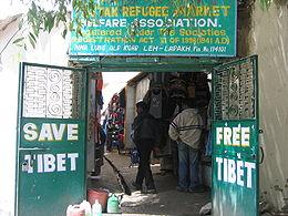 A Tibetan refugee market in Ladakh, India.