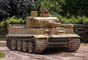 Tiger 131 - Tiger 131 on display at Tankfest 2012