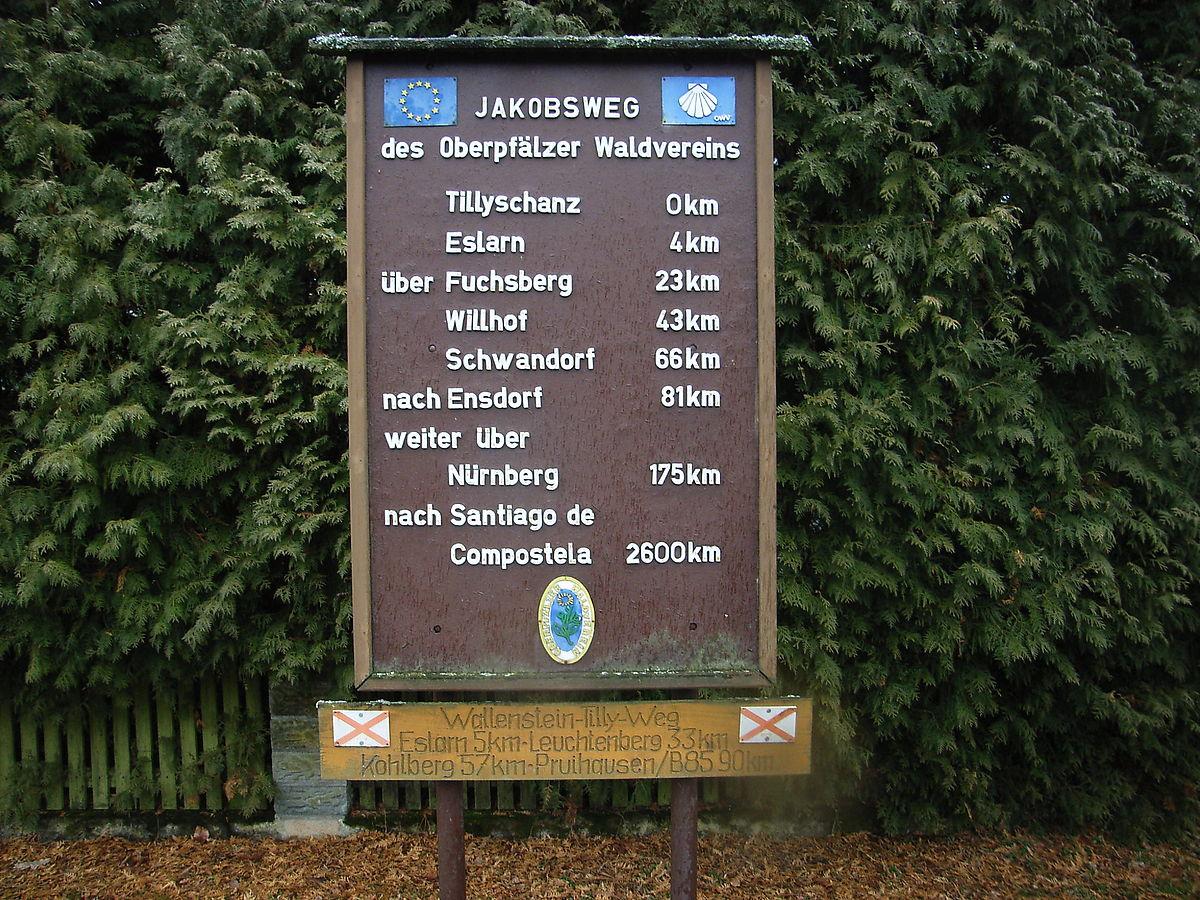 Jakobsweg Franken Karte.Fränkischer Jakobsweg Wikipedia