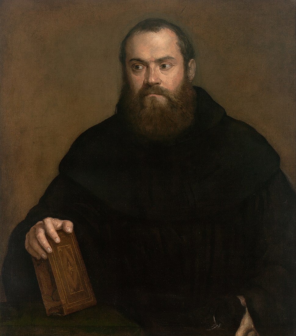 Titian - A monk with a book - Google Art Project