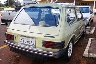 Volkswagen Brasília - Rear view of the VW Brasilia