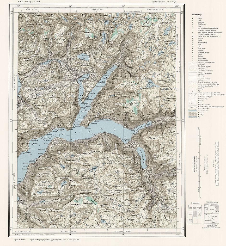 FileTopographic Map Of Norway C Aust Ulvik Jpg - Ulvik norway map