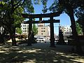 Torii and nightlight of Sumiyoshi Shrine from inner side.JPG