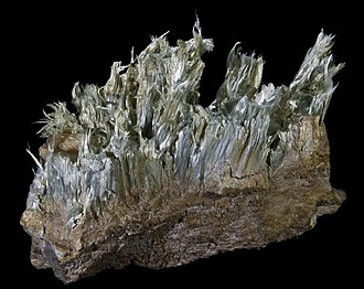 Tremolite - Tremolite from the Aure Valley, French Pyrenees (size: 8.2 x 6.7 cm)