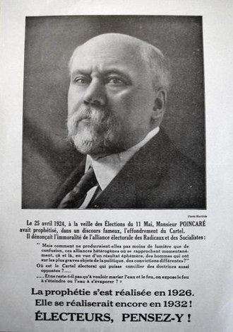 Raymond Poincaré - A 1932 electoral leaflet supporting Raymond Poincaré's achievements