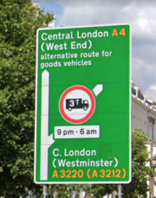 Traffic sign in London