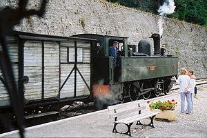 Réseau Breton 4-6-0 tank locomotives - E 327 on the Chemins de Fer de Provence, August 2006