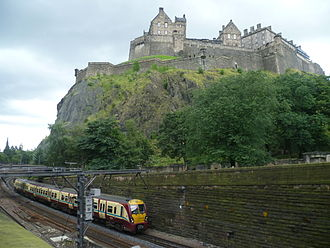 Princes Street Gardens - Image: Train in Princes Street Gardens