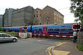 Train on level crossing, Downham Market - geograph.org.uk - 1351407.jpg