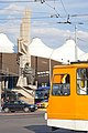 Tram in Sofia in front of Central Railway Station 2012 PD 024.jpg