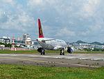 TransAsia Airways Airbus A320-232 B-22317 Departing from Taipei Songshan Airport 20150908e.jpg