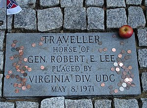 Traveller (horse) - Traveller's grave at the Lee Chapel