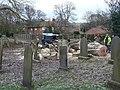 Tree felling in Epperstone churchyard - geograph.org.uk - 1628982.jpg