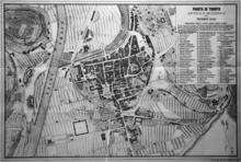 Francesco Ranzi, Pianta di Trento Antica e Moderna, G.B. Monauni, 1869