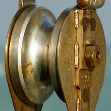 Trissa linhjul utan rep sheave pulley wheel without rope.png