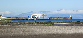 Troon - Image: Troon harbour from north, with P&O Ferry Express