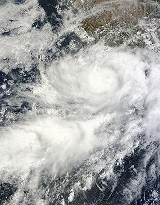 2011 Pacific hurricane season - Image: Tropical Storm Beatriz 2011 06 20 1740Z