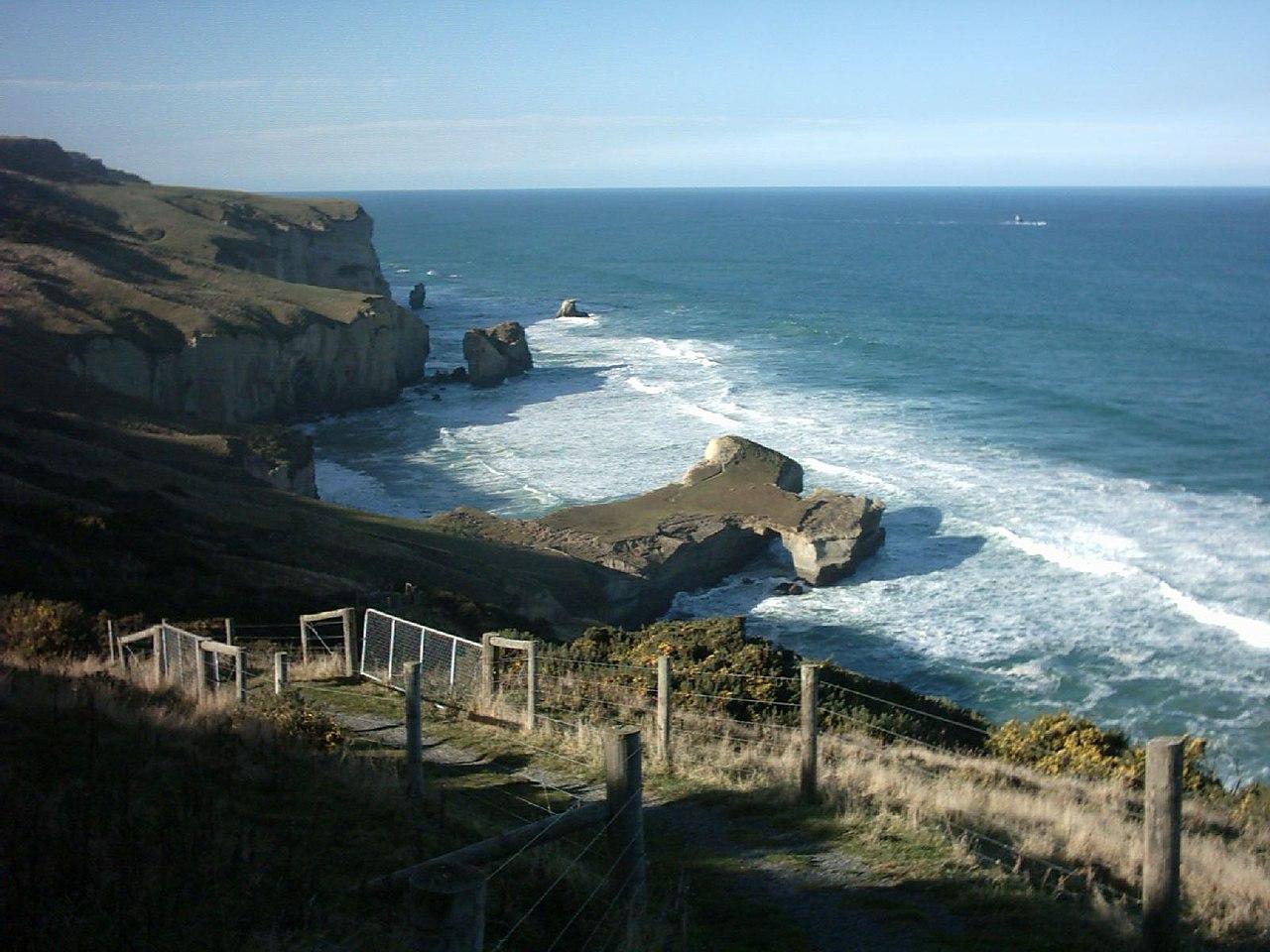 New Zealand Wikipedia: File:Tunnel Beach New Zealand I.jpg