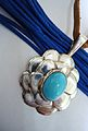 Turquoise and silver pendant.JPG