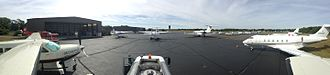 Tweed New Haven Airport - All non-airline traffic at New Haven is handled by Robinson Aviation. Shoreline Aviation's maintenance base and seaplane service is also located on Tweed's east ramp.