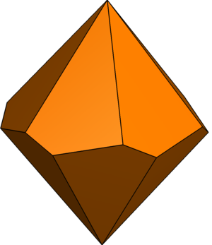 Hexagonal trapezohedron - Image: Twisted hexagonal trapezohedron