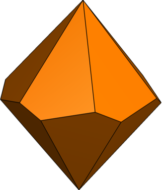 Hexagonal trapezohedron - Image: Twisted hexagonal trapezohedron