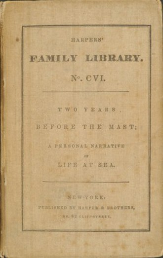 Two Years Before the Mast - First edition of Two Years Before the Mast, 1840