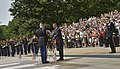 U.S. President Barack Obama sets a wreath in front of the Tomb of the Unknowns to honor the nations fallen service members during the 145th annual Memorial Day observance at Arlington National Cemetery, Va 130527-D-NI589-212.jpg