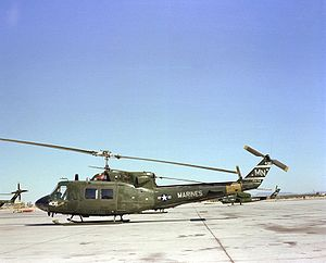 Bell UH-1N Twin Huey - A Marine UH-1N sitting on the flight line at NAS Whiting Field, Florida, in 1982