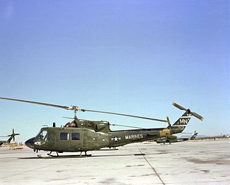 Bell UH-1N Twin Huey - A Marine UH-1N on the flight line at NAS Whiting Field, Florida, 1982