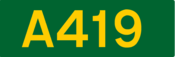 A419 road shield