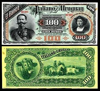 ABCorp - 100 pesos Banco Italiano del Uruguay (1887)