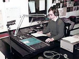 University Radio York - Studio 2 in operation in 1984