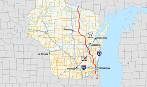 US Route In Wisconsin Wikipedia - Us 41 map