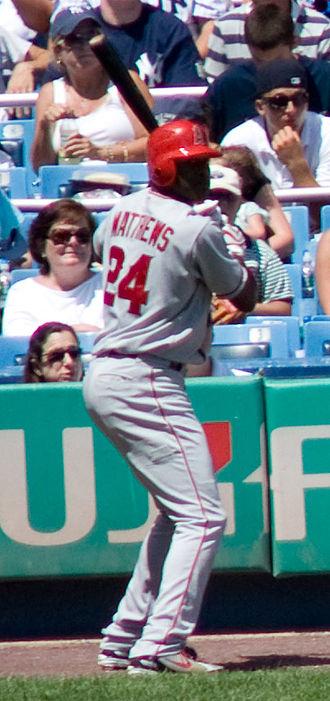 Gary Matthews Jr. - Matthews with the Los Angeles Angels of Anaheim in 2008