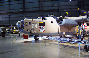 B-24 Liberator units of the United States Army Air Forces - Indoor display of above aircraft.   Aircraft markings are of the Ninth Air Force 512th Bombardment Squadron, 376th Bombardment Group, to which it was originally assigned in September 1943.