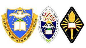 Armed Forces Chaplaincy Center - USA Chaplain Center and School unit insignia, device, and sleeve insignia