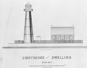 Biloxi Light - Original architectural drawing