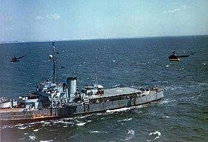 USCGC Cobb (WPG-181) with helicopters 1944
