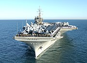 USS Constellation (CV-64) off Perth, Australia, on 29 April 2003