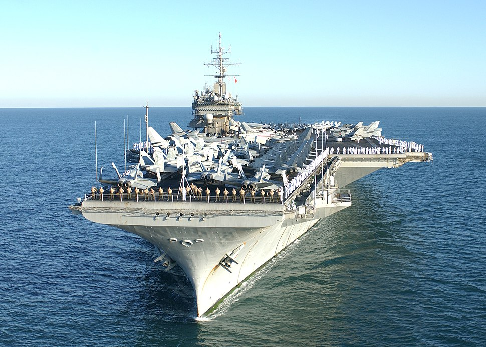 USS Constellation (CV-64) off Perth, Australia, on 29 April 2003