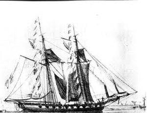 New Orleans Squadron - The schooner USS Enterprise, circa 1799.