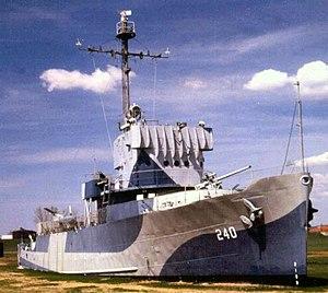 Freedom Park (Omaha, Nebraska) - Image: USS Hazard AM 240