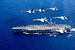 USS John C. Stennis (CVN 74) and USS Ronald Reagan (CVN 76) conduct dual aircraft carrier strike group operations 160618-N-ZU663-004.jpg