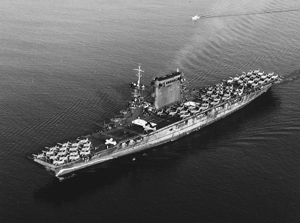 USS Lexington (CV-2) leaving San Diego on 14 October 1941 (80-G-416362)