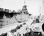 USS Philippine Sea (CV-47) and USS Weiss (APD-135) at Quonset Point 1947.JPG