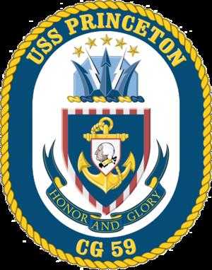 USS Princeton (CG-59) - Image: USS Princeton CG 59 Crest